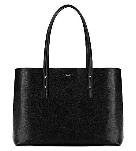 ASPINAL OF LONDON Regent leather tote bag (Black