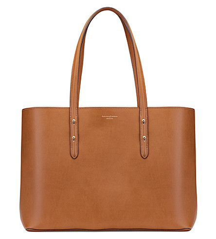 ASPINAL OF LONDON Regent suede tote (Tan