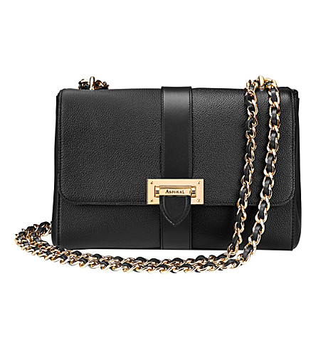 ASPINAL OF LONDON Lottie chain-strap leather bag (Black