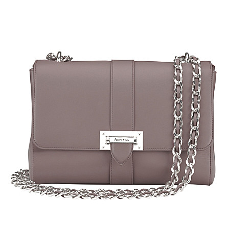 ASPINAL OF LONDON Lottie chain-strap leather bag (Chanterelle
