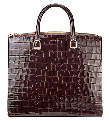 ASPINAL OF LONDON Editors tote bag (Amazon+brown