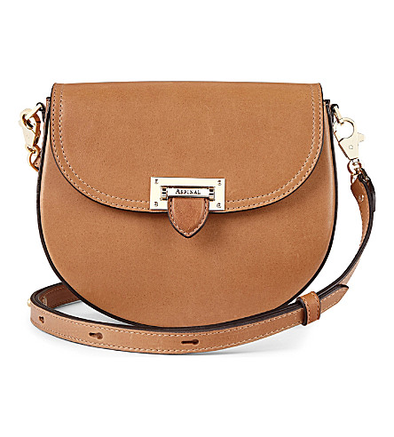 ASPINAL OF LONDON Portobello leather shoulder bag (Natural+tan