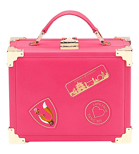 ASPINAL OF LONDON Aspinal of London x Yang Mi leather trunk clutch (Pink