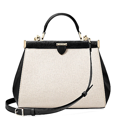 ASPINAL OF LONDON The Dockery leather handbag (Monochrome