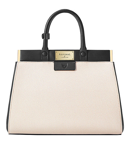 ASPINAL OF LONDON Florence small saffiano leather handbag (Monochrome
