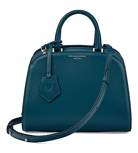 ASPINAL OF LONDON New hepburn leather tote (Peacock
