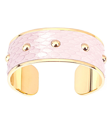 ASPINAL OF LONDON Athena python-leather cuff bracelet s (Rose