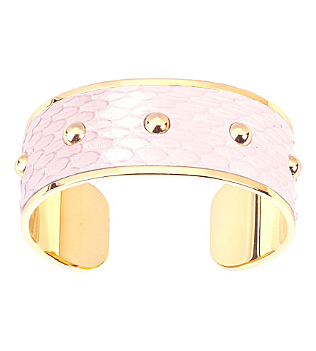 ASPINAL OF LONDON Athena python-leather cuff bracelet (Rose