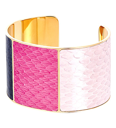 ASPINAL OF LONDON Minerva python leather cuff (Rose