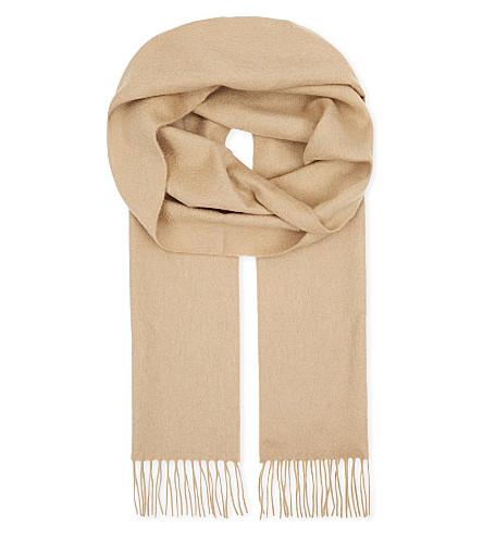 ASPINAL OF LONDON Cashmere scarf (Beige