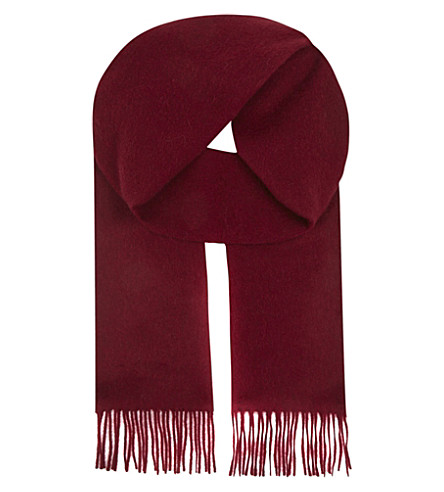 ASPINAL OF LONDON Cashmere scarf (Burgundy