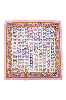 ASPINAL OF LONDON Butterfly-print silk scarf