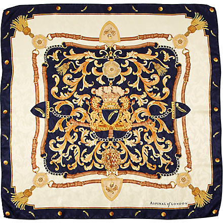 ASPINAL Crest and horseshoes scarf (Navy