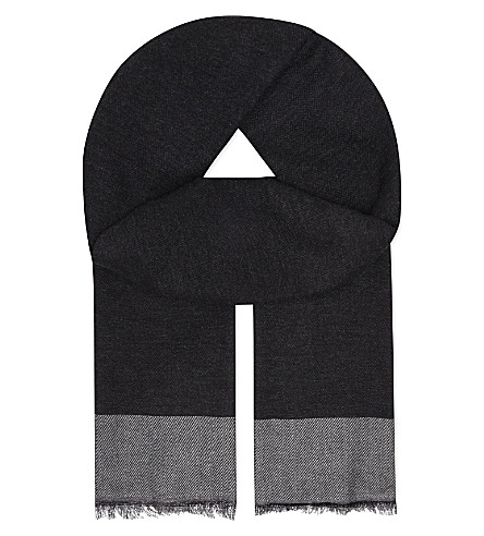ASPINAL OF LONDON Essential cashmere-blend scarf (Grey