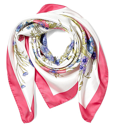 ASPINAL OF LONDON The Bouquet of Flowers silk scarf (Blossom