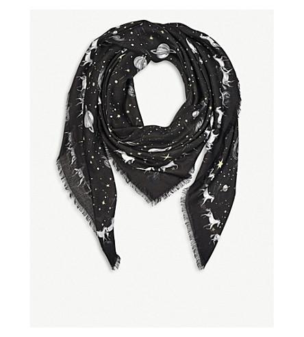 ASPINAL OF LONDON Pegasus Constellation silk scarf 140x140cm