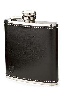 ASPINAL OF LONDON Classic leather hip flask 5oz