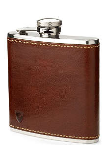 ASPINAL Classic leather hip flask 5oz