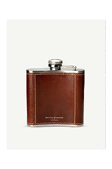 ASPINAL Classic leather hip flask