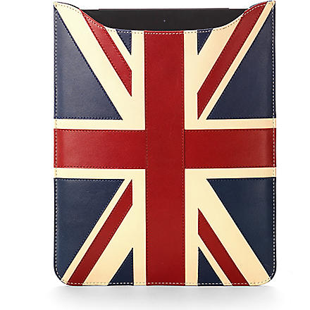 ASPINAL OF LONDON Brit leather iPad with Retina Display sleeve (Brit