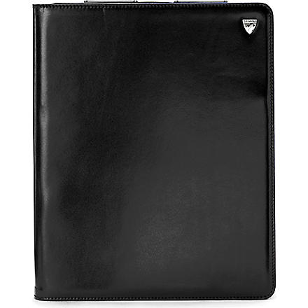ASPINAL iPad 3 leather Stand-Up case (Smooth black&cobalt