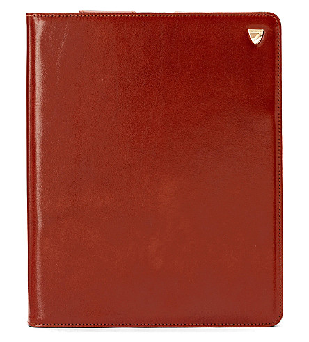ASPINAL OF LONDON Ipad retina standupcase smooth cognac & (Cognac