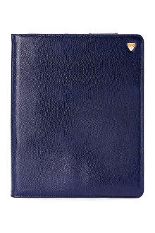 ASPINAL OF LONDON iPad 3 lizard-print leather Stand-Up case