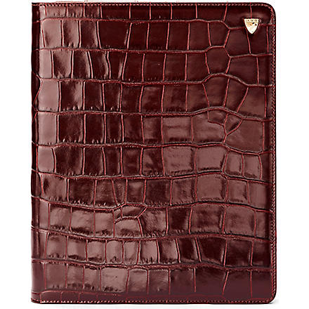 ASPINAL iPad 3 mock-croc leather Stand-Up case (Amazonbrown&espresso