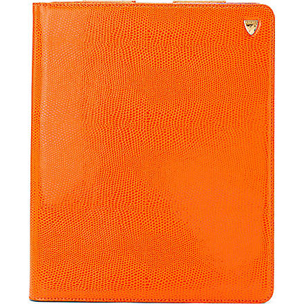 ASPINAL Leather iPad 3 stand-up case (Orangelizard&cobalt