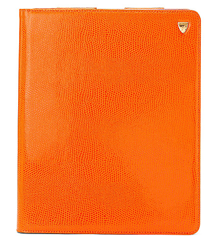 ASPINAL OF LONDON Ipad retina standupcase orangelizard & c (Orange