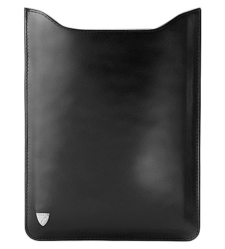 ASPINAL OF LONDON Ipad mini sleeve smooth black & cobalt b (Black
