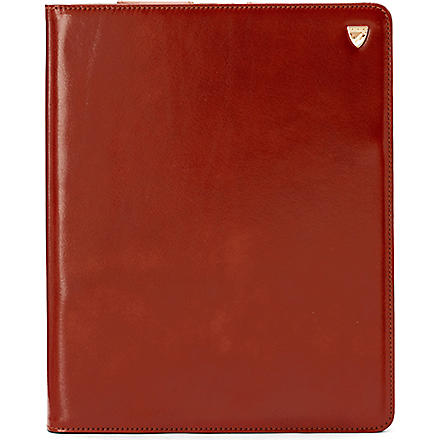ASPINAL OF LONDON Leather iPad mini sleeve (Cognac