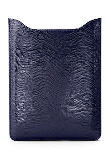ASPINAL OF LONDON iPad mini lizard-print leather sleeve
