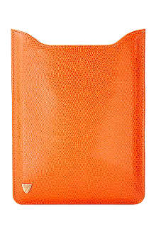 ASPINAL OF LONDON iPad mini lizard print leather sleeve