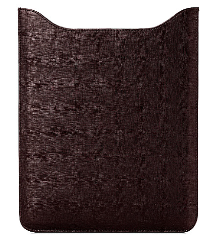 ASPINAL OF LONDON Leather iPad mini sleeve (Brown