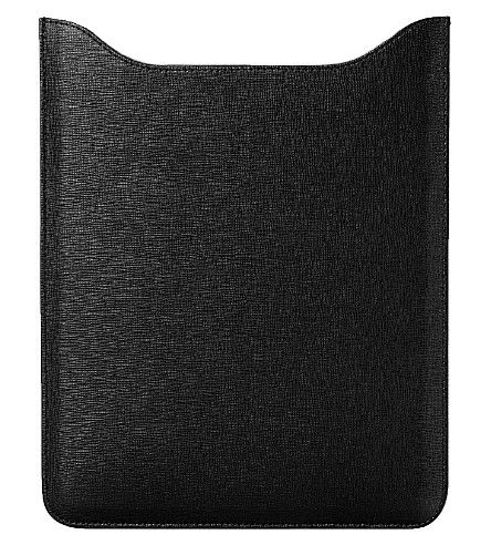 ASPINAL OF LONDON Leather iPad mini sleeve (Black