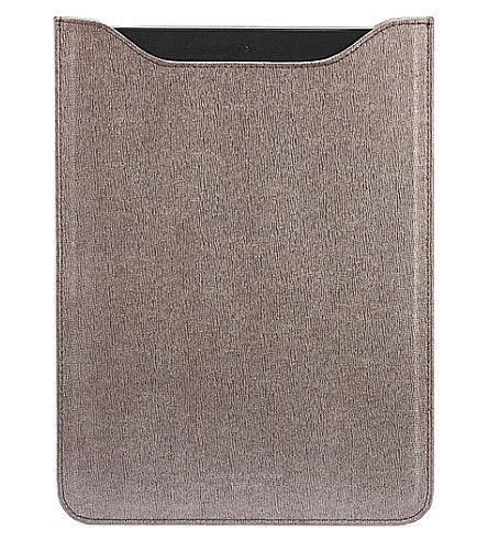 ASPINAL OF LONDON Ipad mini saffiano leather sleeve (Grey