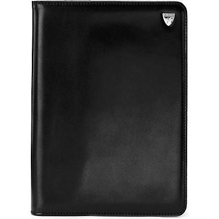 ASPINAL iPad Mini leather Stand-Up case (Smooth black&cobalt