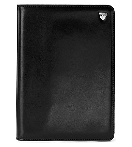 ASPINAL OF LONDON Ipad mini stand up case smooth black & c (Smooth black&cobalt