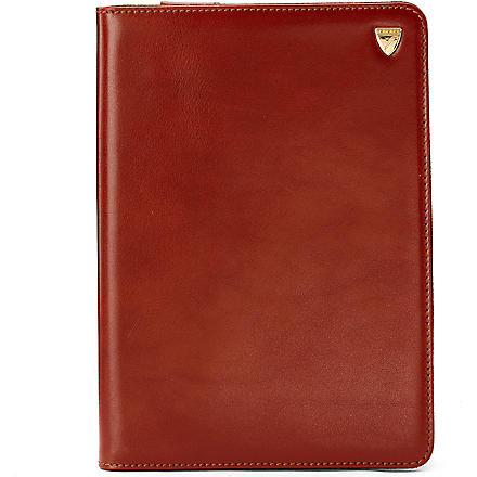 ASPINAL OF LONDON iPad Mini leather Stand-Up case (Cognac & espresso