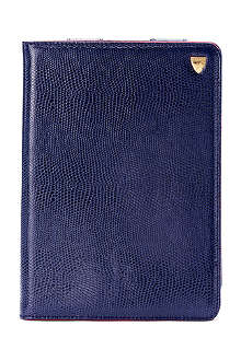 ASPINAL OF LONDON iPad Mini lizard-print leather Stand-Up case