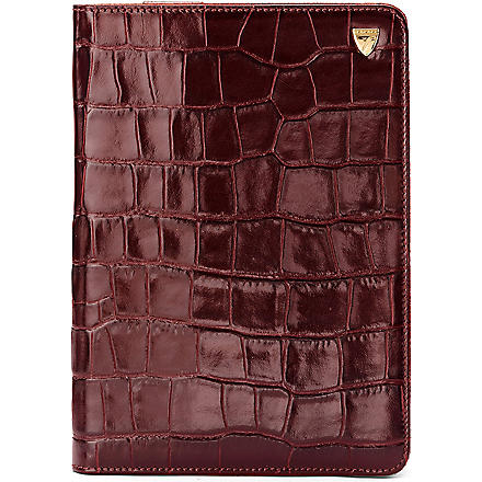 ASPINAL iPad Mini mock-croc leather Stand-Up case (Amazon brown&espress