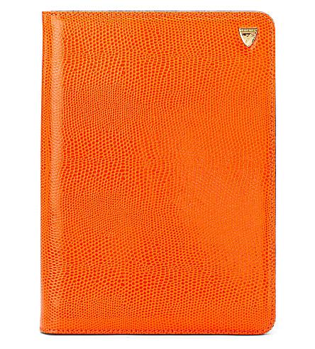 ASPINAL OF LONDON Ipad mini standup case orange lizard & c (Orangelizard&cobalt
