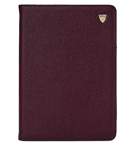 ASPINAL OF LONDON Ipad Mini saffiano leather stand-up case (Burgundy