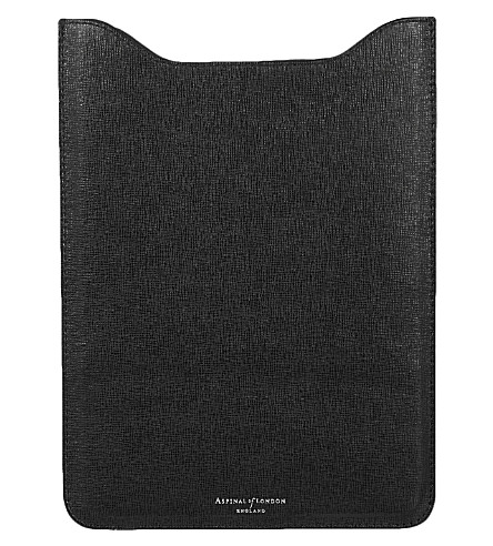 ASPINAL OF LONDON iPad air saffiano leather sleeve (Black