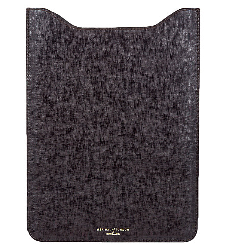 ASPINAL OF LONDON iPad air saffiano leather sleeve (Brown