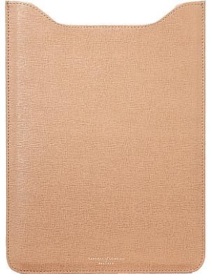 ASPINAL OF LONDON iPad saffiano leather sleeve
