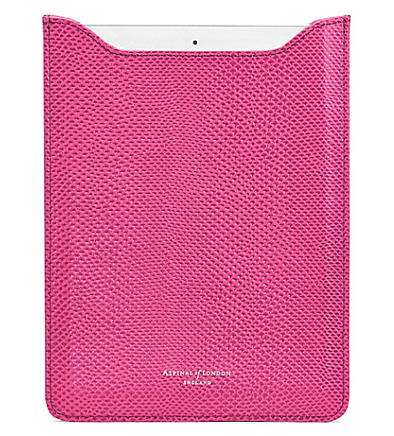 ASPINAL OF LONDON iPad Air lizard-embossed leather sleeve (Pink