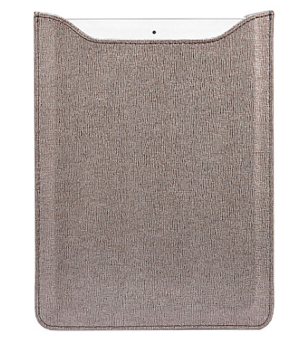 ASPINAL OF LONDON Ipad air saffiano leather sleeve (Grey