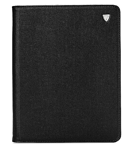 ASPINAL OF LONDON iPad Air Saffiano-leather stand-up case (Black